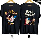 Ren and Stimpy Show TV Series T-shirt Cotton 100 S-4XL USA size Free Shipping
