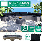 6 Seater Sofa Pe Wicker Outdoor Lounge Set Furniture Setting Garden Patio Seat