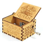 Handmade Wooden Music Box Hand Cranked Crafts Ornaments Kids Birthday Gift Toy
