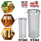 14*6''  Home brew Beer Hop Tube Strainer Stainless Steel Mesh Micron Filter US