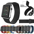 For Apple Watch Series 5 4 3 2 1 Leather Loop Magnetic Band Strap 38/42/40/44mm image