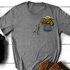 Baby Yoda Pocket Cute Shirt S-5XL image