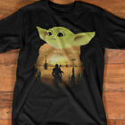 Baby Yoda Star-Wars Sun Set T-Shirt S-5XL $19.99 USD on eBay