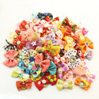 Pet Hair Bows w/Rubber Bands for Small Medium Dog Cat Grooming Hair Accessories