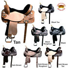 "13 14 15 16 17 18"" Western Horse Saddle HILASON LEATHER FLEX TREE BARREL RACING"