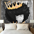 US Stock Abstract Crown Girl Tapestry Wall Hanging Tapestry Home Bedroom Decor