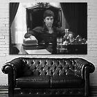 #28BW Scarface Mob Mafia Gangster Movie Poster Canvas Ready to Hang Framed