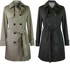 Wallis Womens Black or Beige Classic Lined Belted Trench Mac Coat 6 - 20
