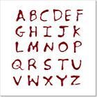Letters A-Z Dripping Blood On Art/Canvas Print. Poster, Wall Art, Home Decor