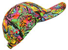 """MeowZa!"" Paint Splatter Rainbow Cat Allover Print Baseball Ball Cap Hat MD & LG"