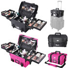 Professional Makeup Organizer Cosmetic Bag Case Train Travel Storage Artist Box