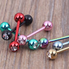 Stainless Steel Body Straight Barbell Ring Tongue Piercing Tragus Nipple Jewlery