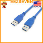 USB A to USB A Cable USB 3.0 Type A Male to Male Cable For Printer Modem Camera
