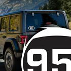 California Area Code 951 Stickers | 5x3-Inches | Laminated UV Protected
