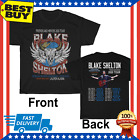 Limited Hot Blake Shelton Friends And Heroes Tour 2020 Logo Black T Shirt M-3XL  image