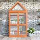 Wooden Garden Cold Frame Greenhouse Raised Flower with PVC Protection