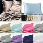 100% Pure Mulberry Silk Soft Pillowcase Cover Home Bedding Accessories 6 Colors image