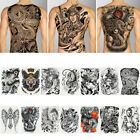 Large Black Waterproof Body Art Full Back Temporary Tattoo Sticker $3.25 USD on eBay