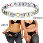 Magnetic Therapy Healing Bracelet Gold Sliver Heart Bangle Arthritis Pain Relief $7.49 USD on eBay
