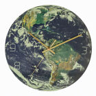 3D Night Glow Luminous Earth Continents Wall Clock Silent Home Wall