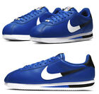 New NIKE Cortez Classic Leather Men's Athletic Sneakers blue black all sizes