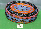 """LOT B pick one HANDMADE INDONESIA BEADED LIDDED MULTI-COLORED *6"""" OVAL BOXES rc"""