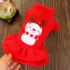 Christmas Pet Dress Costume for Small Dogs Pomeranian Bichon Cats Winter Wear