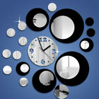 Creative Multi-circles Acrylic Round Wall Clock for Home Wall Decoration DIY Art