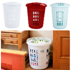 Deluxe 58L Plastic Round Laundry Hamper Large Family Size Storage Basket Bin Box