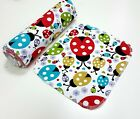 10 Pack Reusable Kitchen Roll, Colorful Ladybugs, Kitchen towel, 100% Cotton