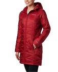 COLUMBIA WOMENS M MIGHTY LITE HOODED LONG OMNI HEAT LIGHT WINTER JACKET