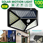 Outdoor 100 LED Waterproof Path Lamp PIR Motion Sensor Wall Light Solar Power