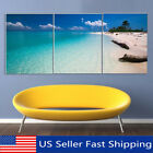 3 Panels Abstract Modern Beach Poster Canvas Print Painting Art Home Wall