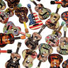 CW_ AB_ 50 Pcs Mixed Wood Buttons 2 Holes Flower Guitar Shape Sewing Scrapbookin
