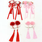 1Pair Chinese Style Kid Girl Pompom Tassel Hairpins Hair Clips Accessories Nove