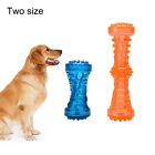 FJ- Funny Dumbbell Squeaky Puppy Dog Grinding Teeth Molar Stick Pet Chew Bite To