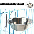 S/M/L Stainless Steel Hang-on Bowls Metal Dog Crate Cage Food Water Bowl Animal