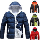Fashion Men Winter Warm Hooded Thick Jacket Zipper Outwear Coat Casual Plus Size