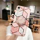 Samsung Galaxy S20 10 S9 S8 Plus Geometric Marble Shockproof Silicone Case Cover