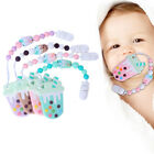 Baby Safety Silicone Bead Ice Cream Teether Pacifier Clip Chain Teething Toy Nov