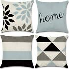 Jojusis Modern Geometric Throw Pillow Covers Cotton Linen Home Decor 18 X 18 Inc
