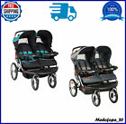 Baby Stroller Navigator Double Jogging Ratcheting Shade Canopies Safety Harness