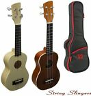 Brunswick Ukulele Soprano Mahogany or Maple Finish. With or Without TGI Gigbag