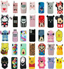 Case Cover For iPhone 5 7 8Plus XR 11 Pro MAX Cute 3D Cartoon Silicone Kids Skin