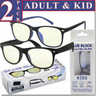 Kyпить Blue Light Glasses Blue Blocking Computer Gaming 2 PACK Glasses Combo Adut Kids! на еВаy.соm