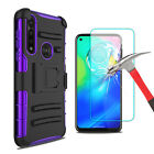 For Motorola Moto G Stylus/G Power 2020 Case With Stand Clip / Screen Protector