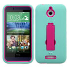 For HTC Desire 510 Impact Case +Rugged Silicone Case Cover +Stand