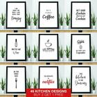 Kitchen Prints Framed Wall Art Picture Funny Quote Print Dining Room Poster