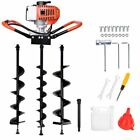 52CC 2-Stroke Gasoline Gas Powered Earth Auger Post Hole Digger Machine or 3Bits