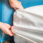 6 Pack of Fitted Bed Sheets - Soft White 180 Thread Count Size Options Bulk Set image